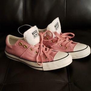 Pink and White CONVERSE All Stars